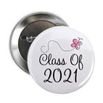 "Sweet Pink Class Of 2021 2.25"" Button"
