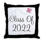 Sweet Pink Class Of 2022 Throw Pillow