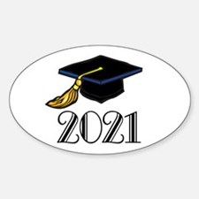 Classic 2021 Grad Oval Decal