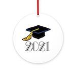 Classic 2021 Grad Ornament (Round)