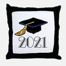 Classic 2021 Grad Throw Pillow