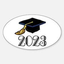 2023 Grad Hat Oval Decal