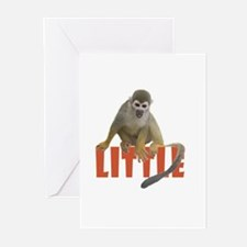 Orange Little Monkey Greeting Cards (Pk of 10)
