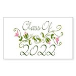 Lovely Class Of 2022 Rectangle Sticker 10 pk)