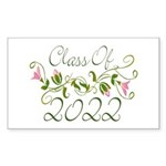Lovely Class Of 2022 Rectangle Sticker 50 pk)