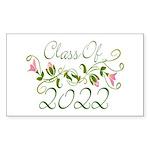Lovely Class Of 2022 Rectangle Sticker 50 pk)