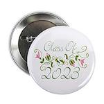"""Flowered Class Of 2023 2.25"""" Button"""