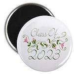 Flowered Class Of 2023 Magnet