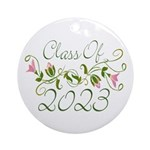 Flowered Class Of 2023 Ornament (Round)