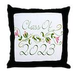Flowered Class Of 2023 Throw Pillow