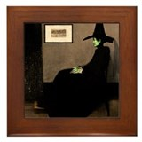 Wicked witch of the west Framed Tiles