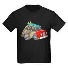 Red Woodie with Surfboards T