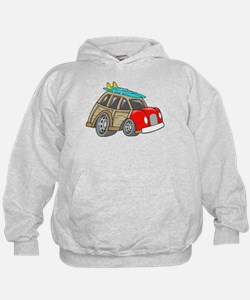 Red Woodie with Surfboards Hoodie