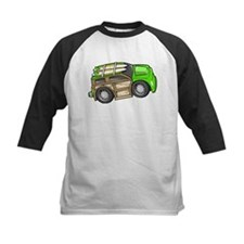 Green Woodie with Surfboards Tee