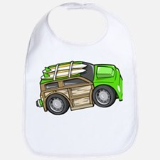 Green Woodie with Surfboards Bib