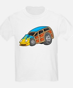 Blue Woodie with Yellow Flame T-Shirt