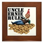 Gnomes and Cookies Framed Tile