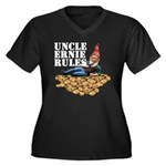 Gnomes and Cookies Women's Plus Size V-Neck Dark T