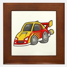 Yellow and Red Sports Car Framed Tile