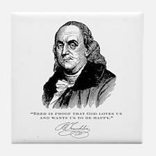 Ben Franklin Beer Coaster