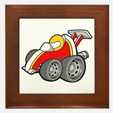 Red Race Car with Drive Framed Tile