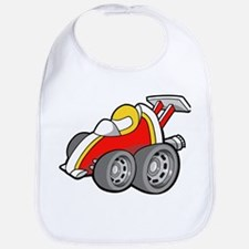 Red Race Car with Drive Bib