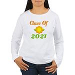 Bright Class Of 2021 Women's Long Sleeve T-Shirt