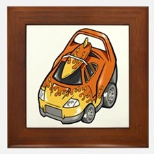 Brown Sports Car with Matchi Framed Tile