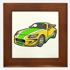 Yellow Hot-Rod with Green Str Framed Tile