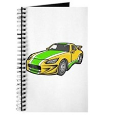 Yellow Hot-Rod with Green Str Journal