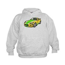 Yellow Hot-Rod with Green Str Hoodie