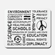 Liberal Values 2 Mousepad