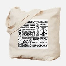 Liberal Values 2 Tote Bag