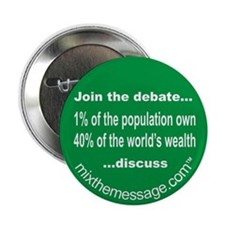 """1% of the Population 2.25"""" Button (10 pack)"""
