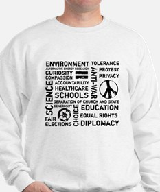 Liberal Values 2 Sweatshirt
