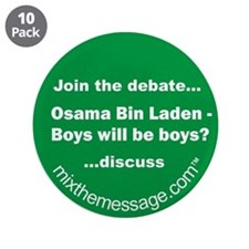 "Bin Laden 3.5"" Button (10 pack)"
