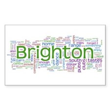 Brighton Rectangle Sticker 50 pk)