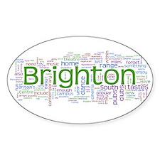 Brighton Oval Sticker (50 pk)