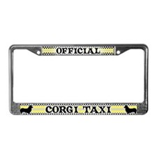 Official Corgi Taxi License Plate Frame (Pembroke)