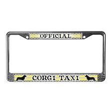 Official Corgi Taxi License Plate Frame (Cardigan)