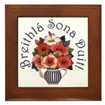 Birthday Bouquet Framed Tile