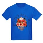 Birthday Bouquet Kids Dark T-Shirt