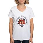 Birthday Bouquet Women's V-Neck T-Shirt