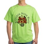 Birthday Bouquet Green T-Shirt