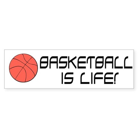"""Basektball"" Bumper Sticker"
