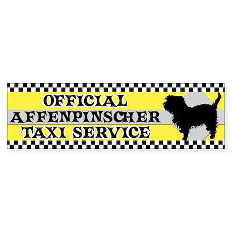 Official Affenpinscher Taxi Bumper Sticker