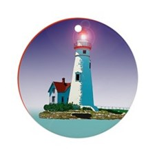 The Marblehead Ohio Light Ornament (Round)