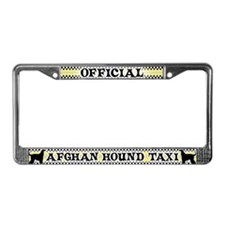 Official Afghan Hound Taxi License Plate Frame