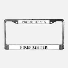 Proud Firefighter License Plate Frame