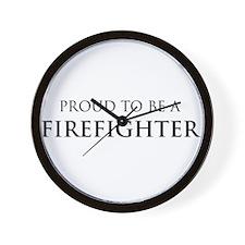 Proud Firefighter Wall Clock